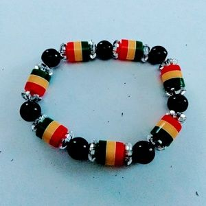 Colorful beaded handcrafted bracelet